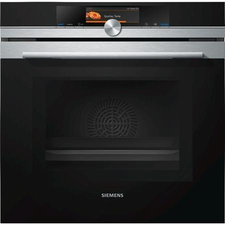 Siemens HM678G4S6B iQ700 Multifunction Single Oven With Microwave And Pyrolytic Cleaning - Stainless Steel