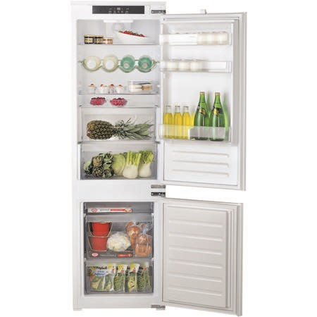 HOTPOINT HM7030ECAA03 54cm Wide 70-30 Integrated Upright Fridge Freezer - White