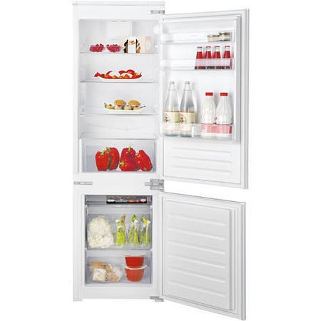 HOTPOINT HMCB7030AA 54cm Wide Low Frost 70-30 Integrated Upright Fridge Freezer