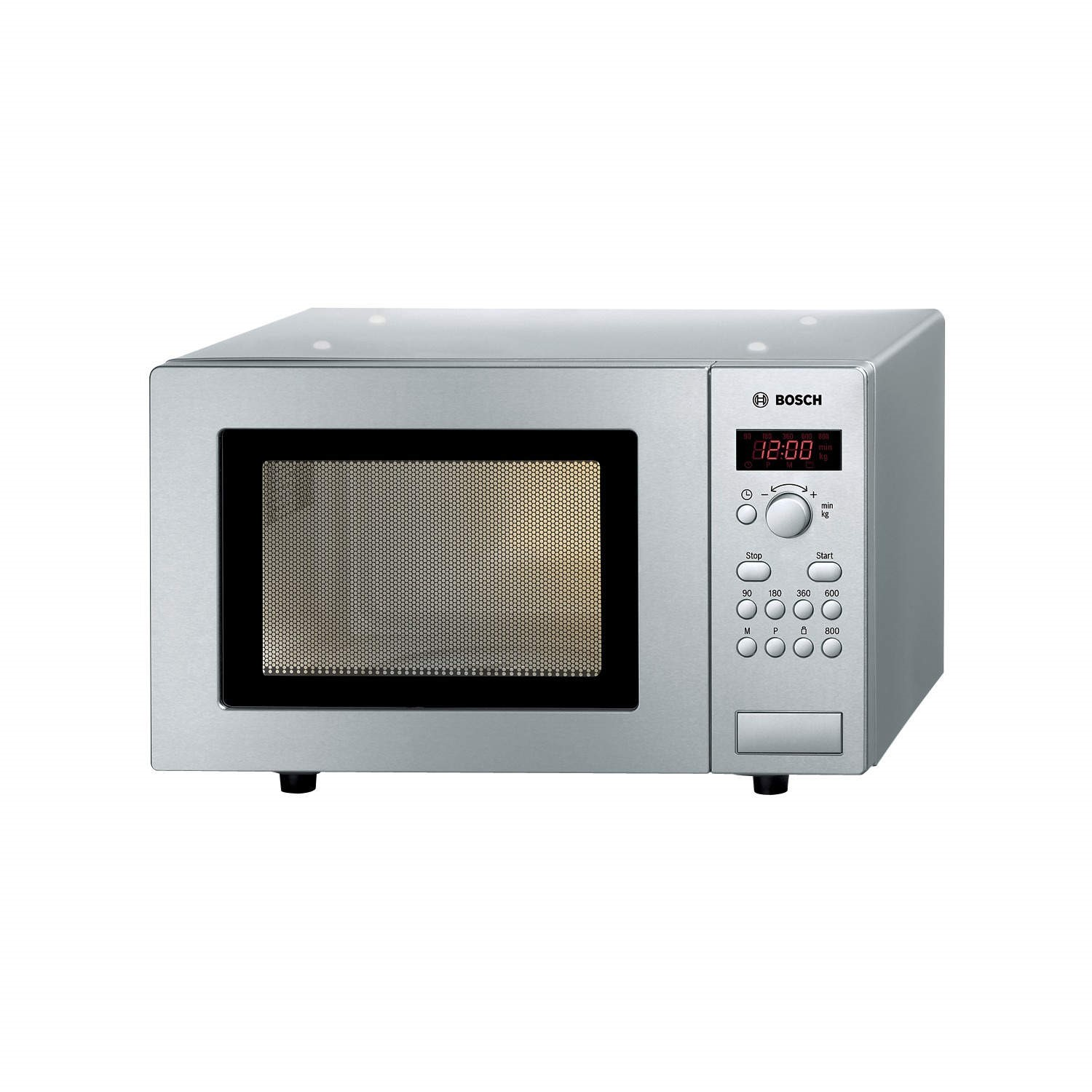 Bosch HMT75M451B Microwave Oven, Brushed Steel