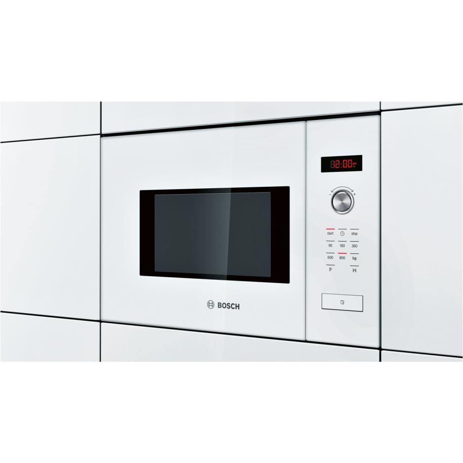 Bosch HMT75M624B Serie 6 White Built-in Microwave Oven For