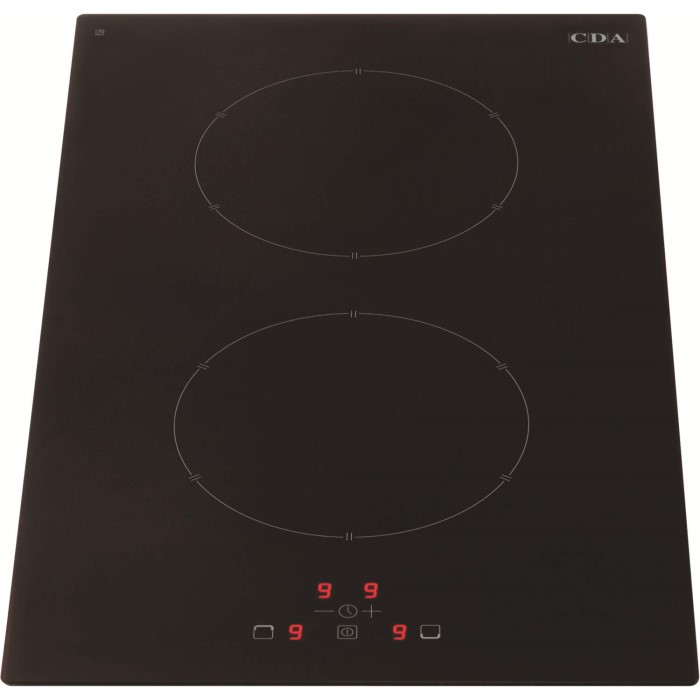 Cda hn3620fr 30cm touch control two zone frameless induction hob black appl - Plaque induction zone modulable ...