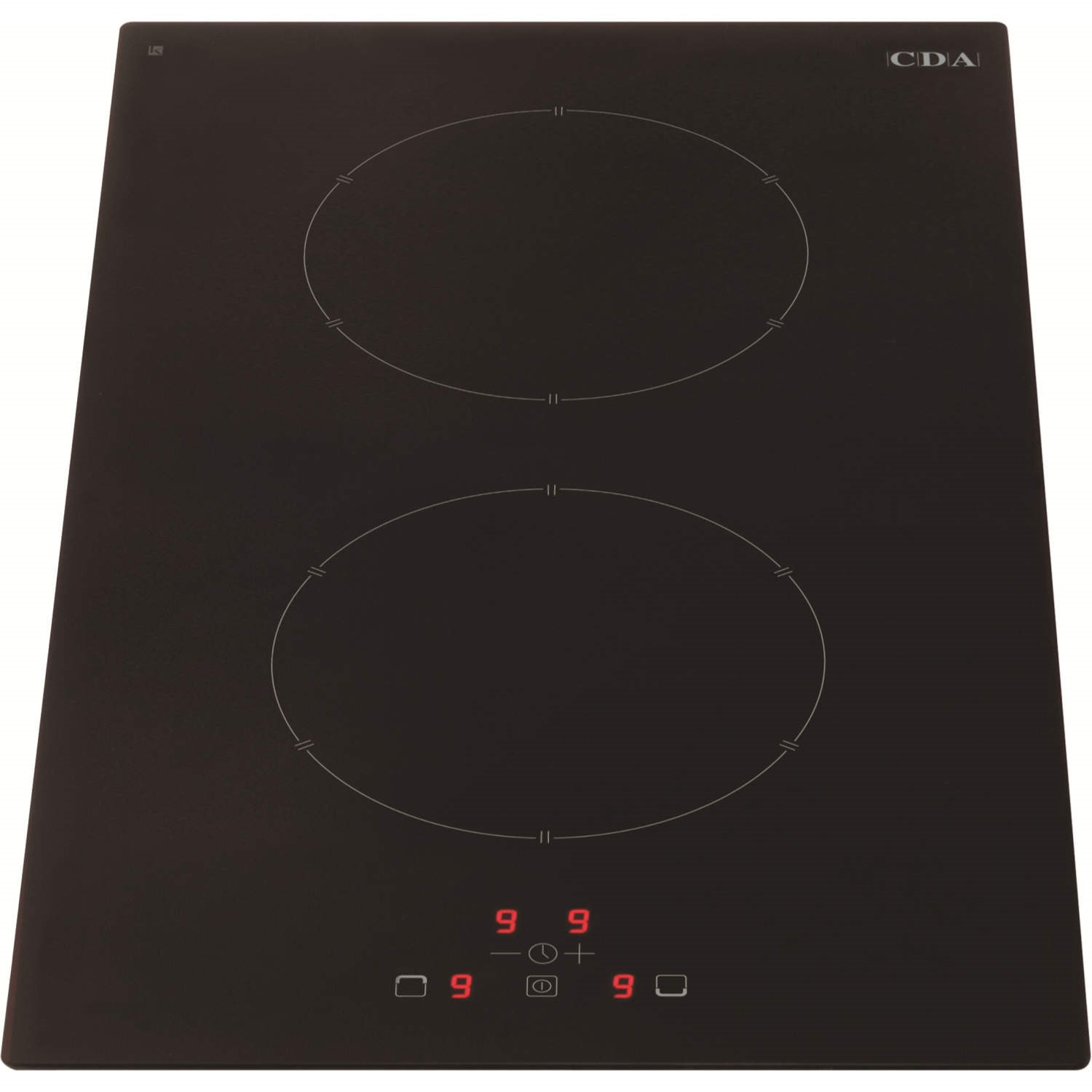 CDA HN3620FR 30cm Touch Control Two Zone Frameless Induction Hob Black
