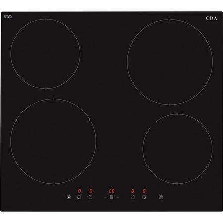 CDA HN6111FR Induction Hob 60cm Front Control With Booster On Front Zones