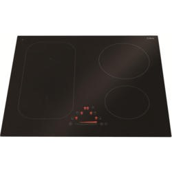 CDA HN6730FR 58cm Slider Control Four Zone Frameless Induction Hob Black