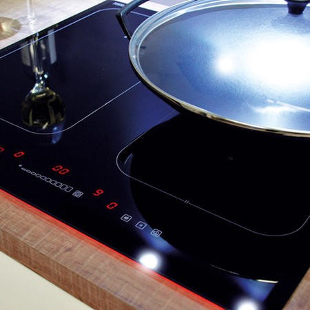 CDA HN6841FR Induction Hob 60Cm Front Control With Booster On All Zones Bridge Function