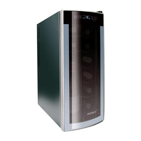 Husky HN6 Husky Reflections Slim Line Wine Cooler - Black