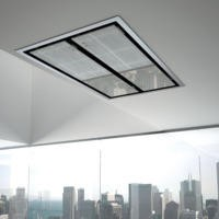Best HOOD-BE-CE-11-GL Cirrus Ceiling Cooker Hood For Use With External Or Remote Motors Glass