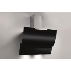 Best HOOD-BE-FL-80-BL 80cm Fluttua Chimney Cooker Hood Black Glass