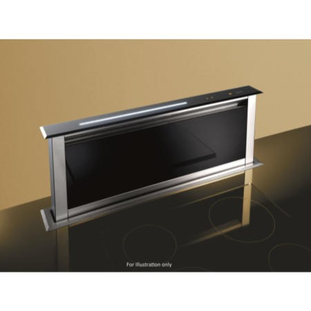 Best HOOD-BE-LE-60-GL Lift 60cm Downdraft Extractor in Black Glass External Motor Version