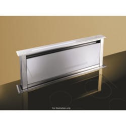 Best HOOD-BE-LE-60-WH Lift 60cm Downdraft Extractor in White Glass External Motor Version