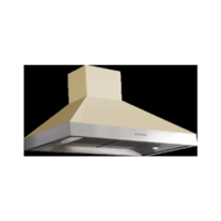 Britannia HOOD-BTH100-GC Latour 2-tone 100cm Chimney Cooker Hood Gloss Cream With Stainless Steel