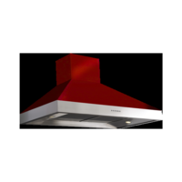 Britannia HOOD-BTH100-GR Latour 2-tone 100cm Chimney Cooker Hood Gloss Red With Stainless Steel