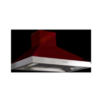 Britannia HOOD-BTH100-MBU Latour 2-tone 100cm Chimney Cooker Hood Matt Burgundy With Stainless Steel