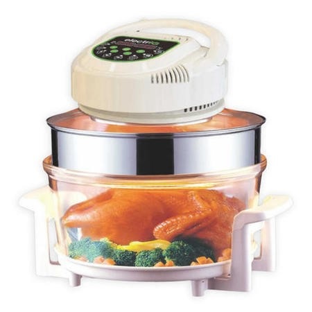 electriQ 17 Litre Premium Halogen Oven with Digital Controls and Full Cooking Accessories Pack