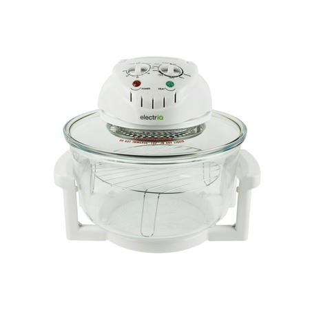 electriQ 17 Litre Premium Halogen Oven with Full Cooking Accessories Pack