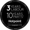 HOTPOINT HQ9E1L American-style Frost Free Fridge Freezer With Touch Controls - Stainless Steel Look