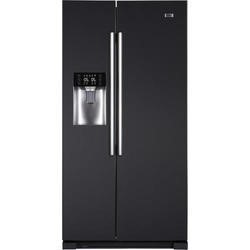 Haier HRF-628IN6 2-Door A+ Side By Side American Fridge Freezer With Ice And Water Dispenser Obsidian Black