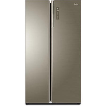 Haier HRF800DGS8 2-Door A+++ Side By Side American Fridge Freezer Stainless Steel And Glass