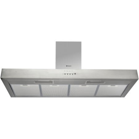 Hotpoint HS110 Shelf Style 100cm Chimney Cooker Hood Stainless Steel