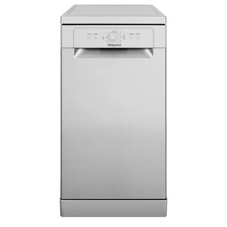 GRADE A3 - Hotpoint HSFE1B19S 10 Place Slimline Freestanding Dishwasher with Quick Wash - Silver
