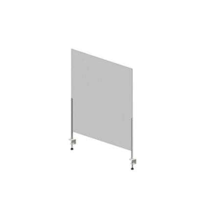 Hygiene Tech Protective Screen Perspex 1Metre High with Desk Clamps - 100cm x 75cm x 4mm