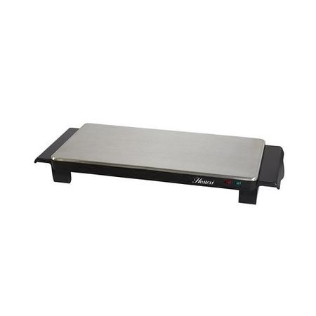 GRADE A1 - Hostess HT4020 2 Plate Brushed Steel Cordless Hot Trays Small