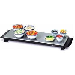 Hostess HT6020 3 Plate Brushed Steel Hot Tray Medium