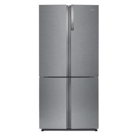 haier htf 452dm7 four door american fridge freezer stainless steel appliances direct. Black Bedroom Furniture Sets. Home Design Ideas