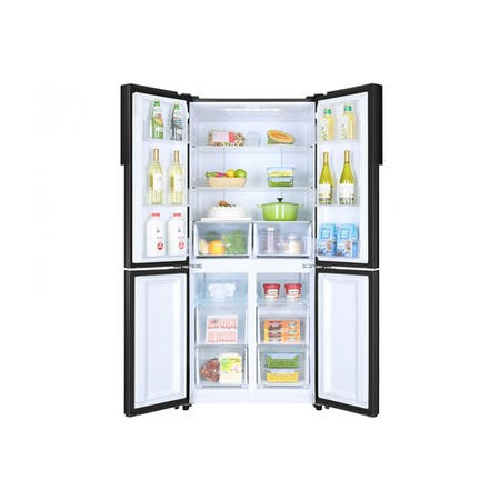 GRADE A3 - Haier HTF-456DN6 Energy Efficient Four-door American Fridge Freezer - Black