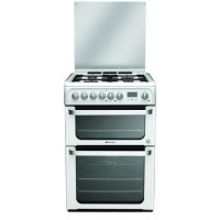 Hotpoint HUD61PS Ultima 60cm Double Oven Dual Fuel Cooker - Polar White