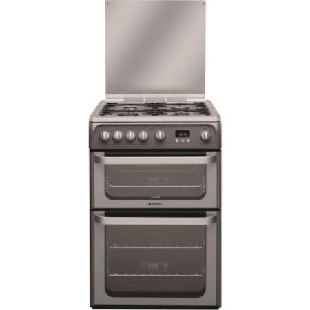 Hotpoint HUG61G Ultima 60cm Double Oven Gas Cooker - Graphite