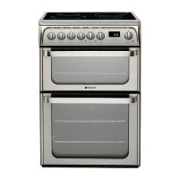 Hotpoint 60cm Electric Double Oven Cooker with Induction Hob - Stainless Steel Best Price, Cheapest Prices