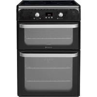 Hotpoint HUI612K Ultima 60cm Electric Cooker With Induction Hob Black