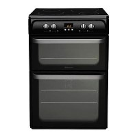 Hotpoint HUI614K Ultima 60cm Double Oven Electric Cooker With Induction Hob - Black