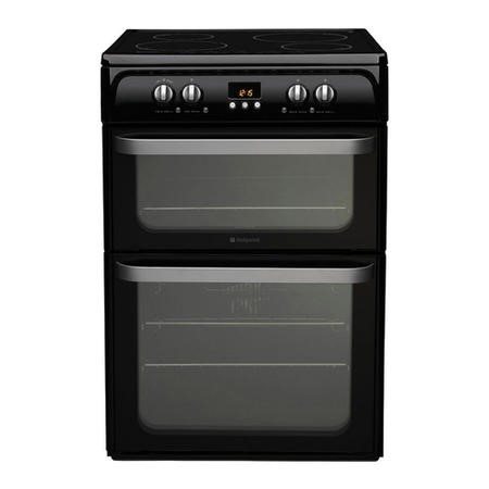 GRADE A3 - Hotpoint HUI614K Ultima 60cm Double Oven Electric Cooker With Induction Hob - Black