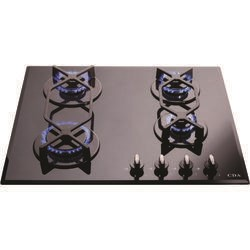 CDA HVG620BL Four Burner Gas-on-glass Hob Black