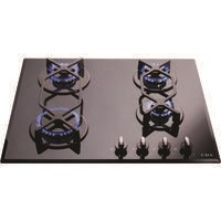CDA HVG620BL 60cm Four Burner Gas-on-glass Hob Black