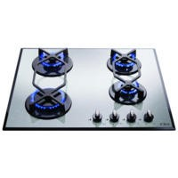 CDA HVG620SS 60cm Four Burner Gas-on-glass Hob Stainless Steel