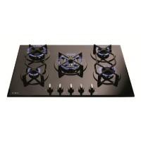 CDA HVG720BL 70cm Five Burner Gas-on-glass Hob Black