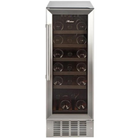 Hostess HW19MA 30cm Wide 19 Bottle Wine Cooler - Stainless Steel
