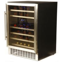 Hostess HW46MA 60cm Wide 46 Bottle Wine Cooler - Stainless Steel