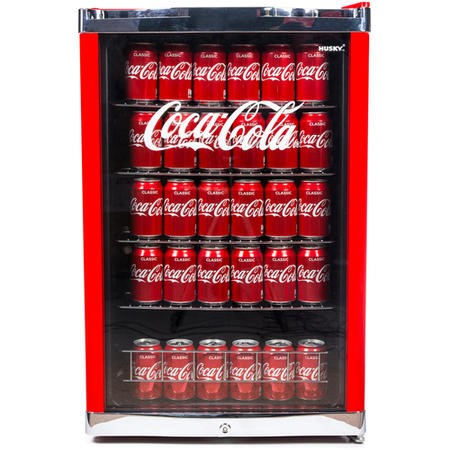 Husky HY211 Husky Coke Cola Drinks Chiller - Red