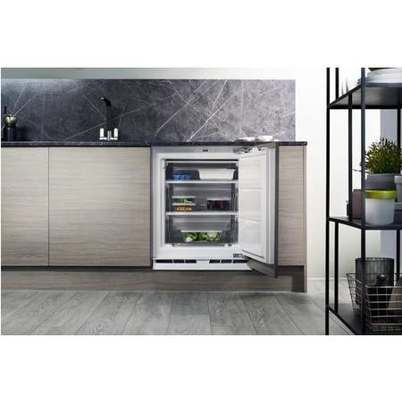 Hotpoint HZA1 60cm Wide Integrated Upright Under Counter Freezer - White