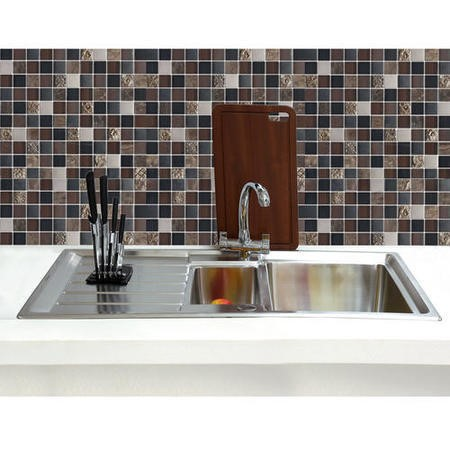 GRADE A1 - Taylor & Moore Huron 1.5 Bowl Reversible Stainless Steel Sink