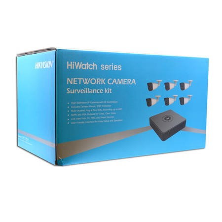 Hikvision HiWatch CCTV System - 8 Channel 1080p NVR with 6 x 1080p Bullet Cameras & 2TB HDD