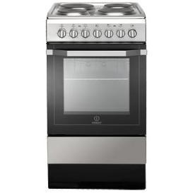 Indesit I5ESH1X 50cm Single Oven Electric Cooker With Sealed Plate Hob Stainless Steel