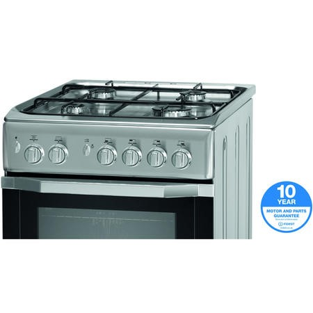Indesit I5GG1S 50cm Single Oven Gas Cooker - Silver