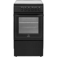 Indesit I5VSHK 50cm Single Oven Cooker With Ceramic Hob - Black