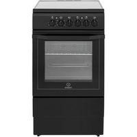Indesit I5VSHK 50cm Single Oven Cooker With Ceramic Hob Black